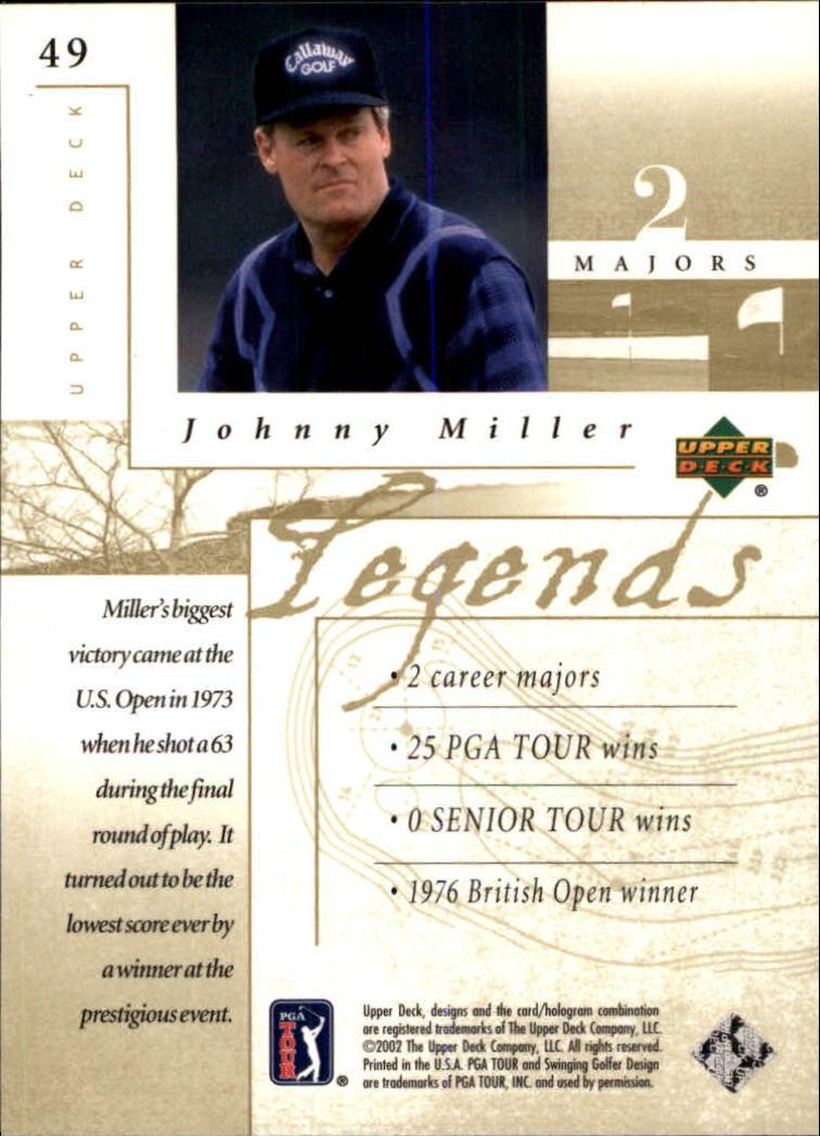 2002 Upper Deck #49 Johnny Miller LEG back image