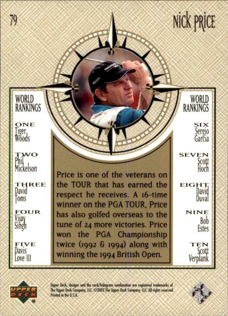 2002 Upper Deck #79 Nick Price NWO back image