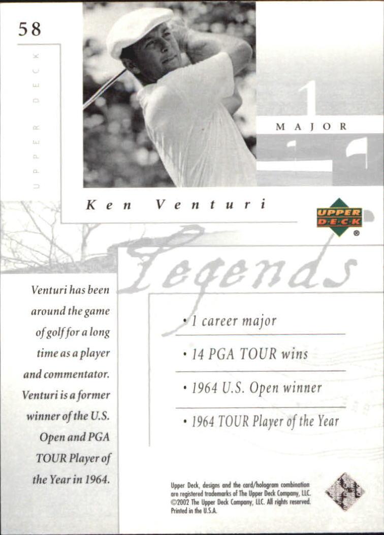 2002 Upper Deck Silver #58 Ken Venturi LEG back image