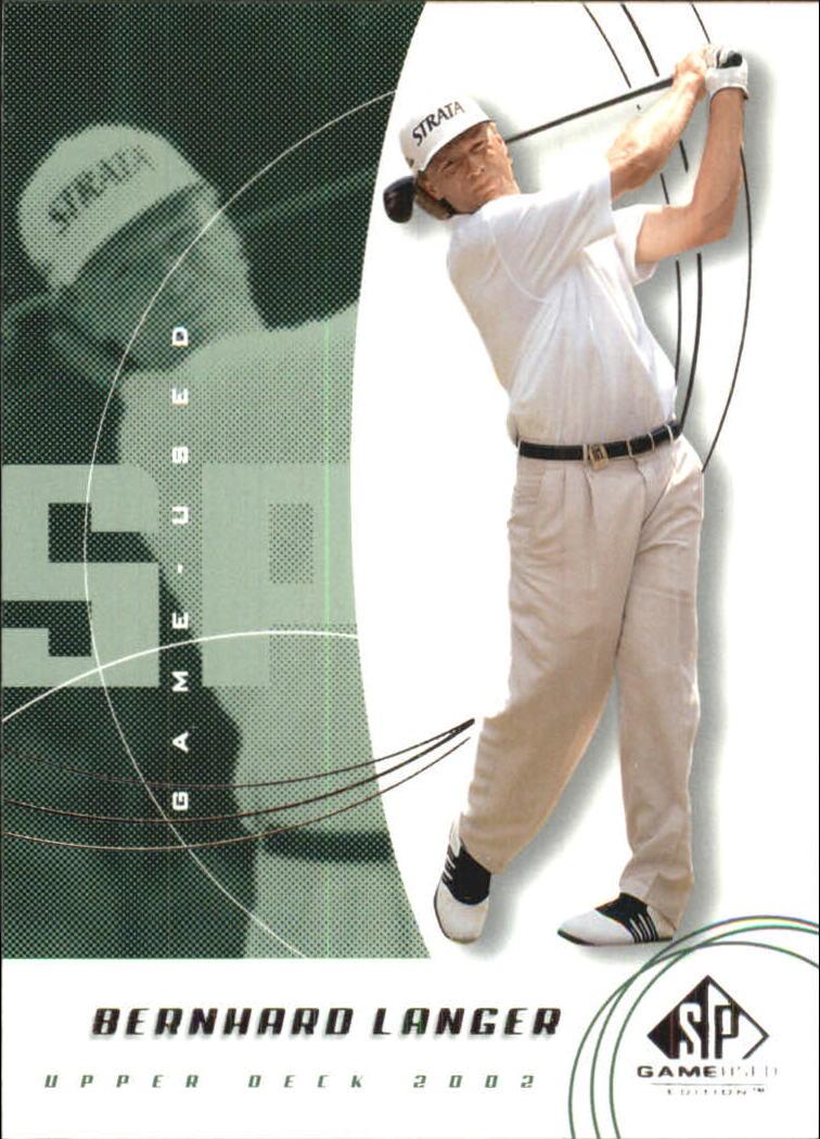2002 SP Game Used #11 Bernhard Langer