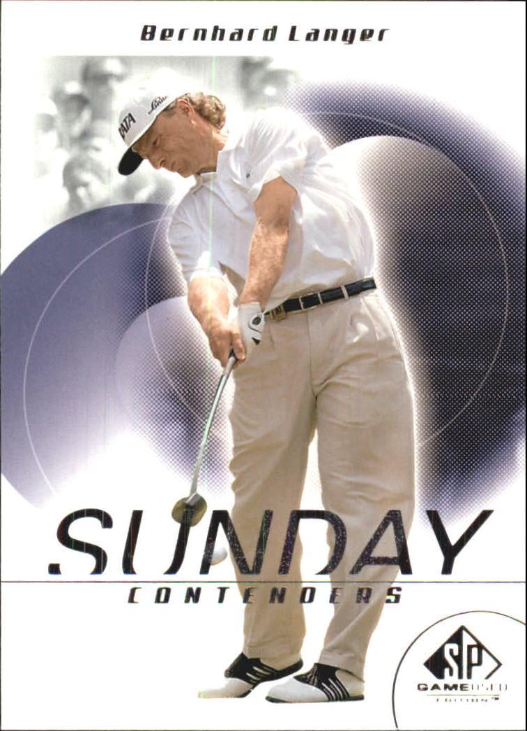 2002 SP Game Used #50 Bernhard Langer SC