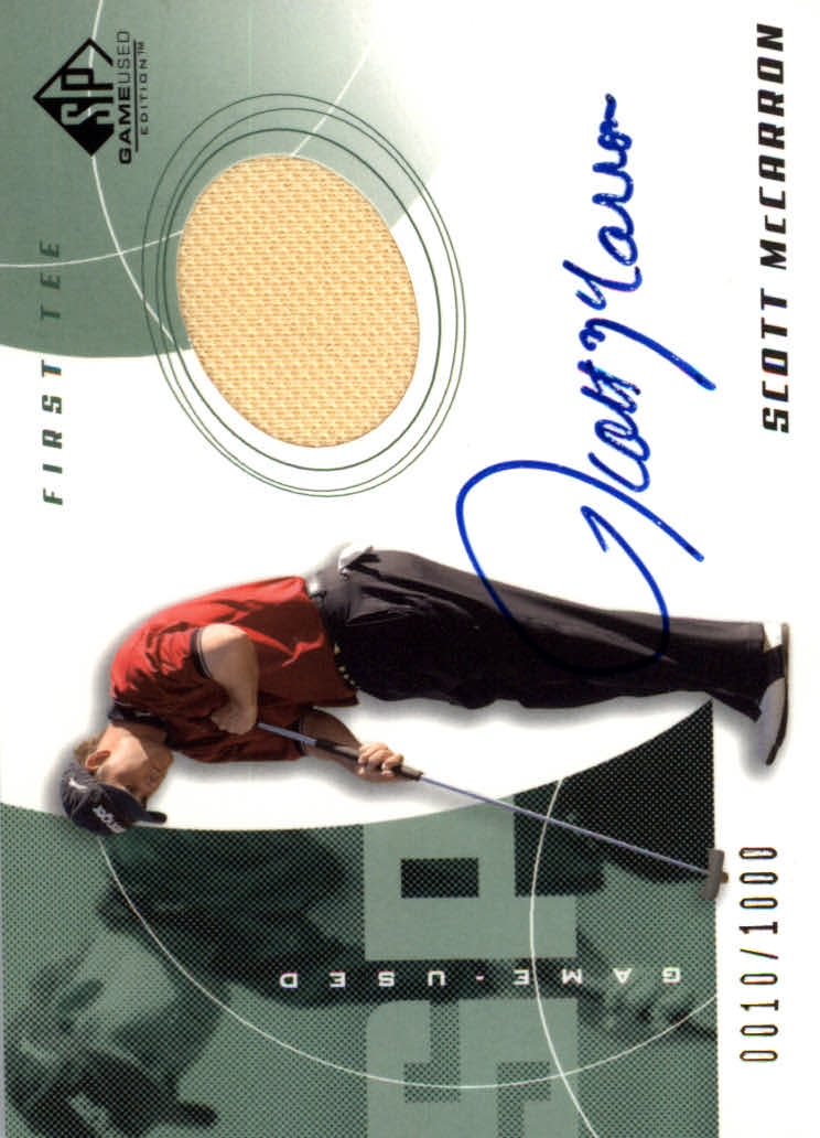2002 SP Game Used #73 Scott McCarron AU Jsy T2 RC