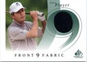 2002 SP Game Used Front 9 Fabric #GP Gary Player