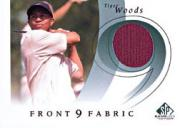 2002 SP Game Used Front 9 Fabric #WO T.Woods Full Swing
