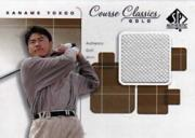 2002 SP Authentic Course Classics Game-Used Shirt Cards Gold #CCKY Kaname Yokoo/191