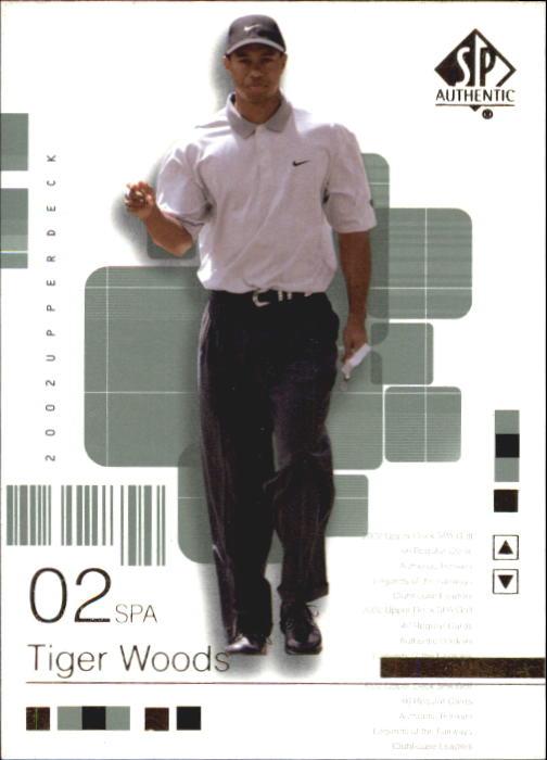 2002 SP Authentic #1 Tiger Woods