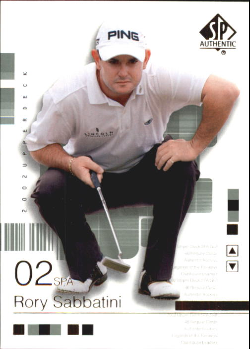 2002 SP Authentic #6 Rory Sabbatini