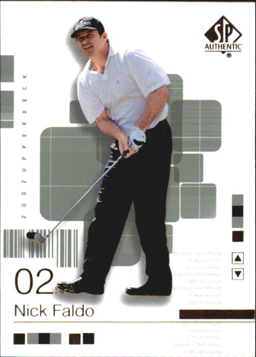 2002 SP Authentic #7 Nick Faldo