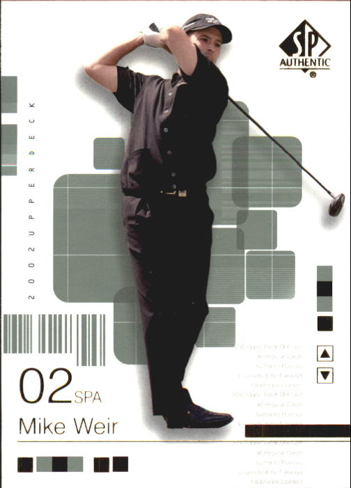 2002 SP Authentic #16 Mike Weir