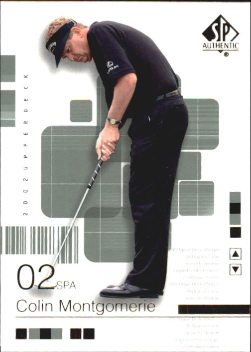 2002 SP Authentic #22 Colin Montgomerie