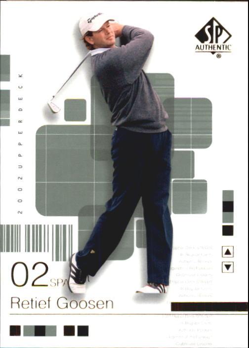 2002 SP Authentic #25 Retief Goosen