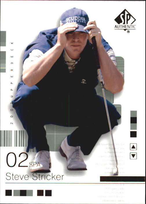 2002 SP Authentic #38 Steve Stricker