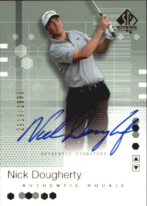 2002 SP Authentic #97 Nick Dougherty AU RC