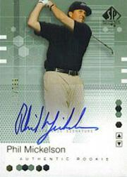 2002 SP Authentic #110 Phil Mickelson AU RC