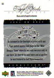 2003 Upper Deck Renditions #83 Tiger Woods TCL back image