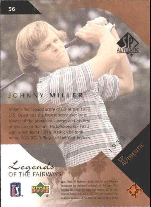 2003 SP Authentic #36 Johnny Miller LF back image