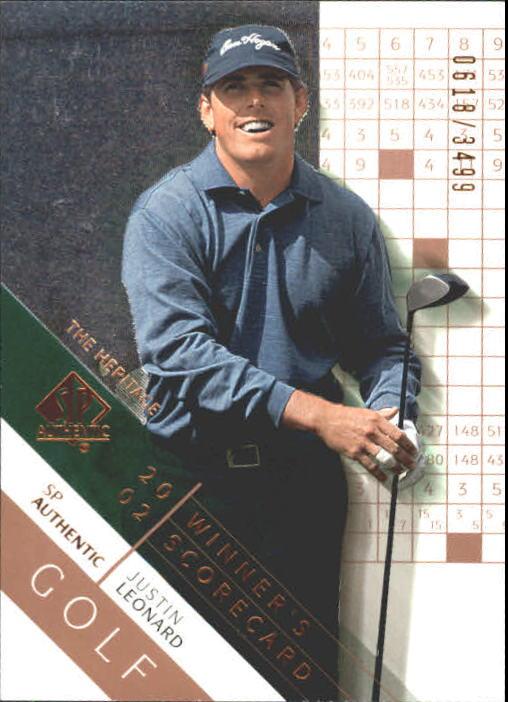 2003 SP Authentic #65 Justin Leonard WS Heritage