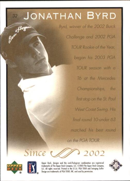 2003 Upper Deck #32 Jonathan Byrd back image