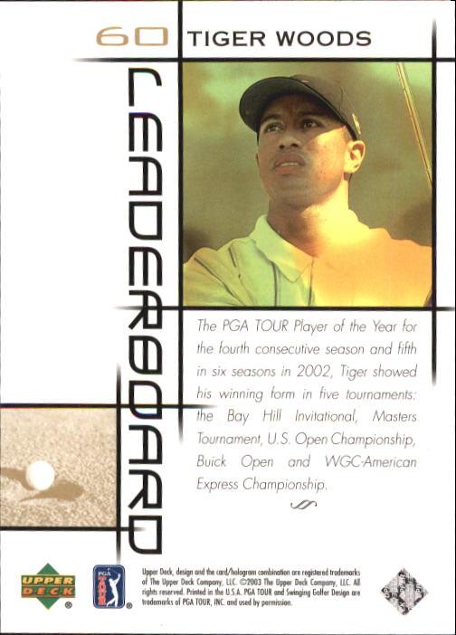 2003 Upper Deck #60 Tiger Woods LB back image