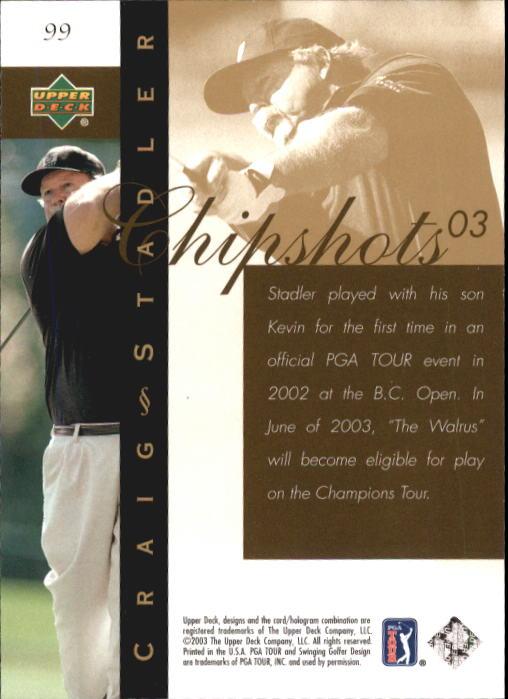 2003 Upper Deck #99 Craig Stadler CS back image
