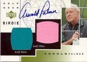 2003 Upper Deck Golf Gear Birdie Autographs #AP Arnold Palmer SP
