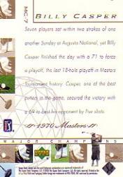 2003 Upper Deck Major Champions #7 Billy Casper 70 Masters back image