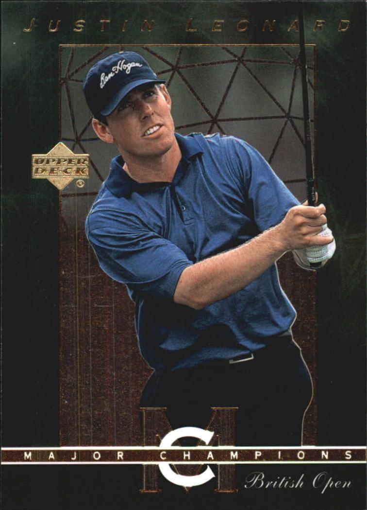 2003 Upper Deck Major Champions #26 Justin Leonard 97 British