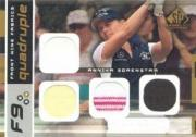 2003 SP Game Used Front Nine Fabrics Quadruple #AS Annika Sorenstam