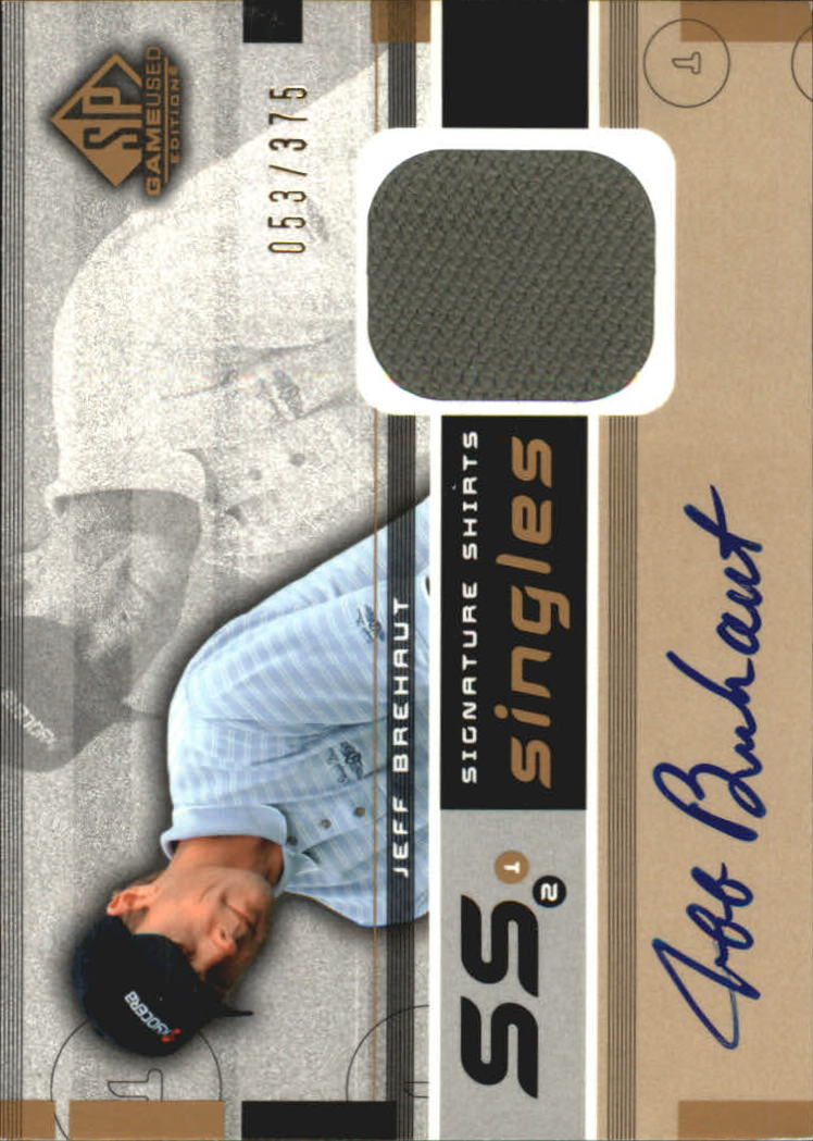 2003 SP Game Used Signature Shirts Singles #JB Jeff Brehaut