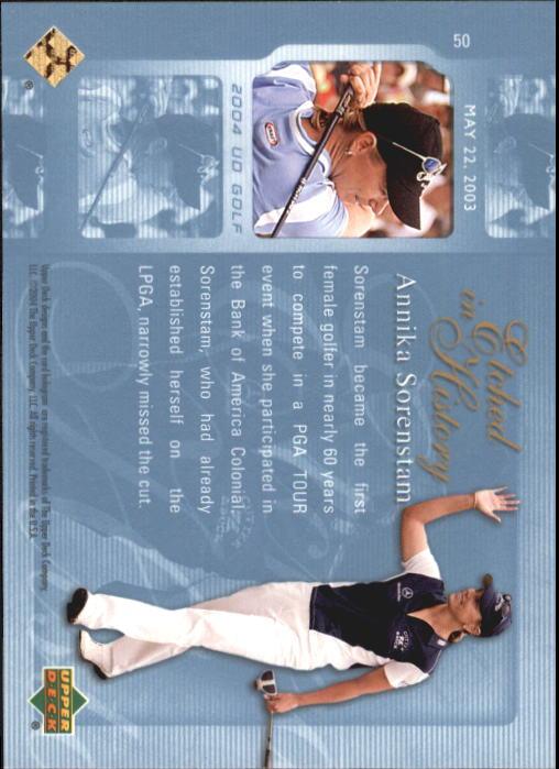 2004 Upper Deck #50 Annika Sorenstam EH back image