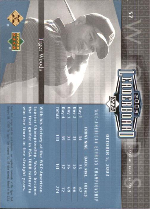 2004 Upper Deck #57 Tiger Woods LB back image