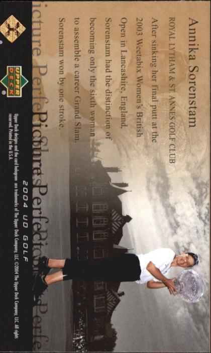2004 Upper Deck #70 Annika Sorenstam PPS back image