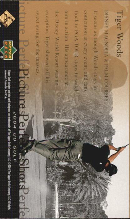 2004 Upper Deck #80 Tiger Woods PPS back image
