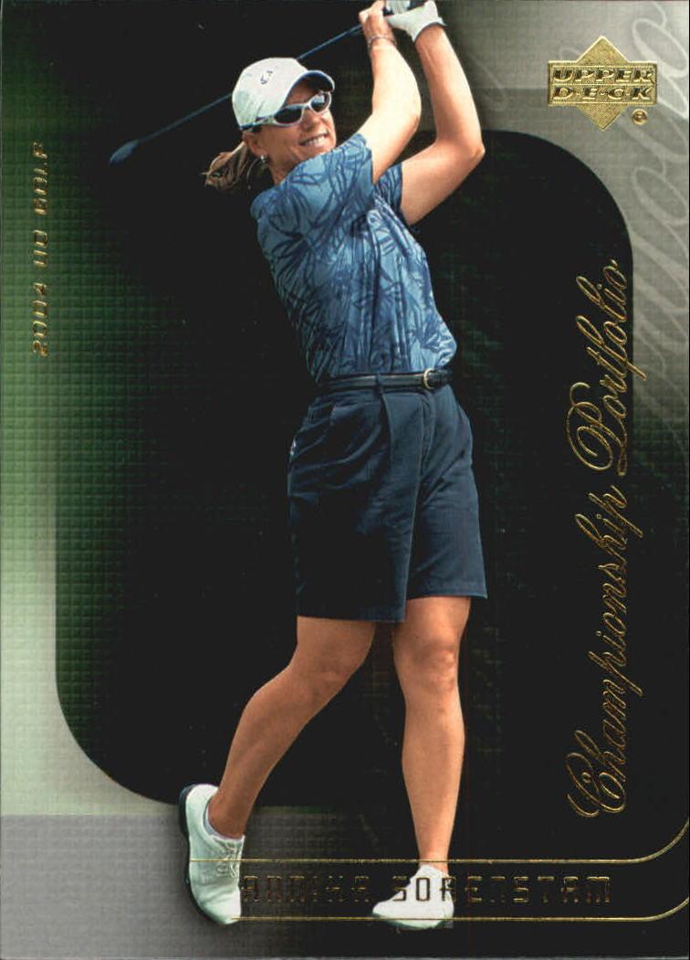 2004 Upper Deck Champion Portfolio #CP28 Annika Sorenstam
