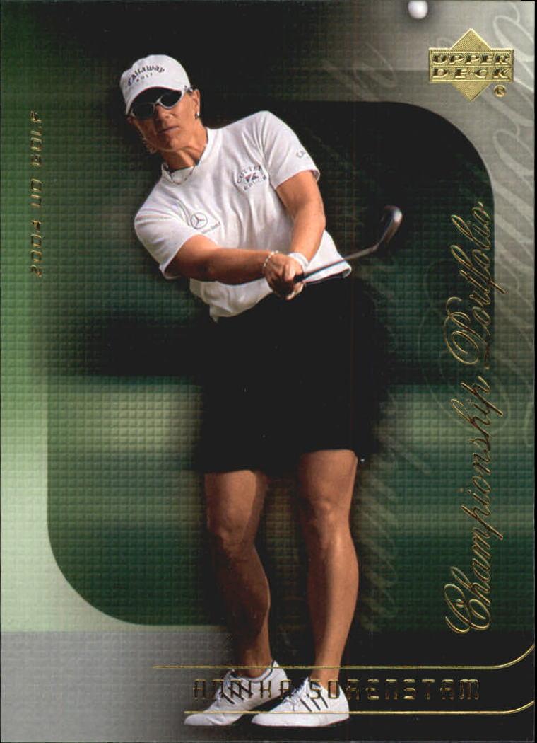 2004 Upper Deck Champion Portfolio #CP41 Annika Sorenstam