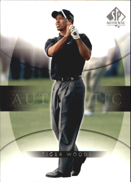 2004 SP Authentic #1 Tiger Woods Short Sleeve