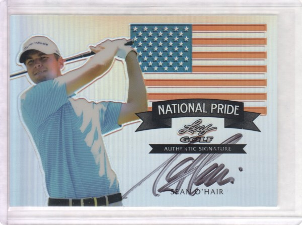 2011 Leaf Golf Metal National Pride Autographs #NPSO1 Sean O'Hair