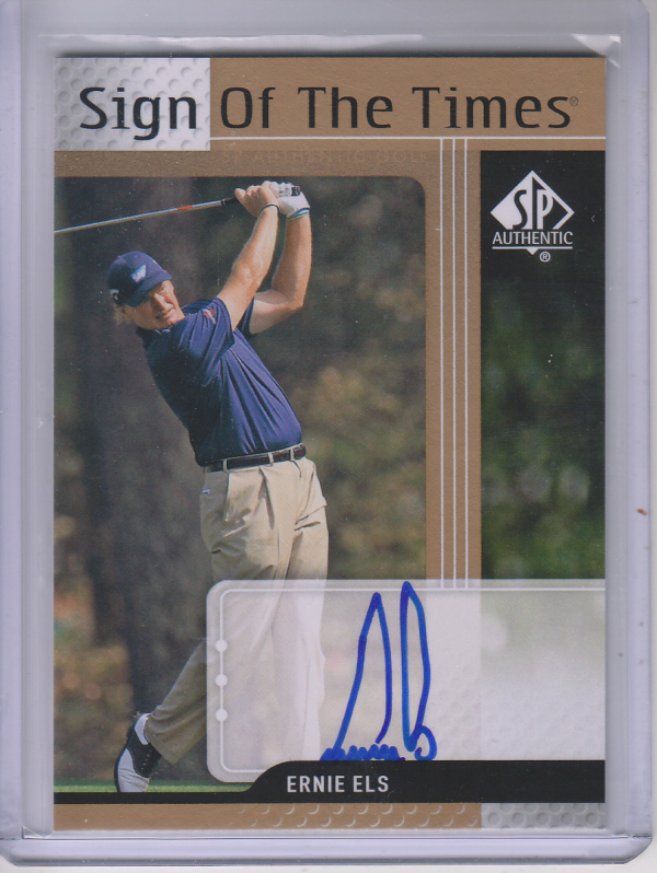 2012 SP Authentic Sign of the Times #STEE Ernie Els C