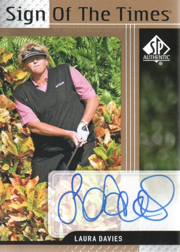 2012 SP Authentic Sign of the Times #STLD Laura Davies E