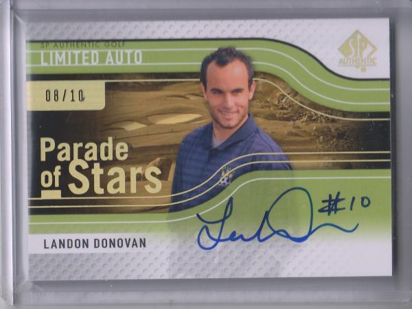 2012 SP Authentic Limited Parade of Stars Autographs #72 Landon Donovan/10