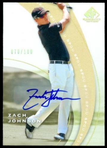 2012 SP Game Used Spectrum Autographs #17 Zach Johnson/100