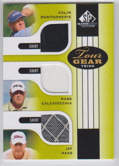 2012 SP Game Used Tour Gear Triple #TG3MCH Colin Montgomerie/ Mark Calcavecchia/ Jay Haas C