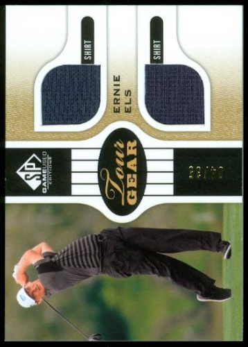 2012 SP Game Used Tour Gear Gold #TGEE Ernie Els