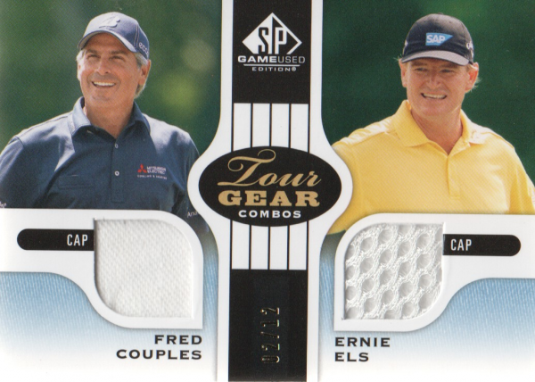 2012 SP Game Used Tour Gear Dual Blue #TG2CE Fred Couples/ Ernie Els