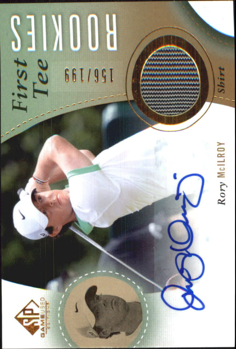 2014 SP Game Used #56 Rory McIlroy Shirt AU/199 RC
