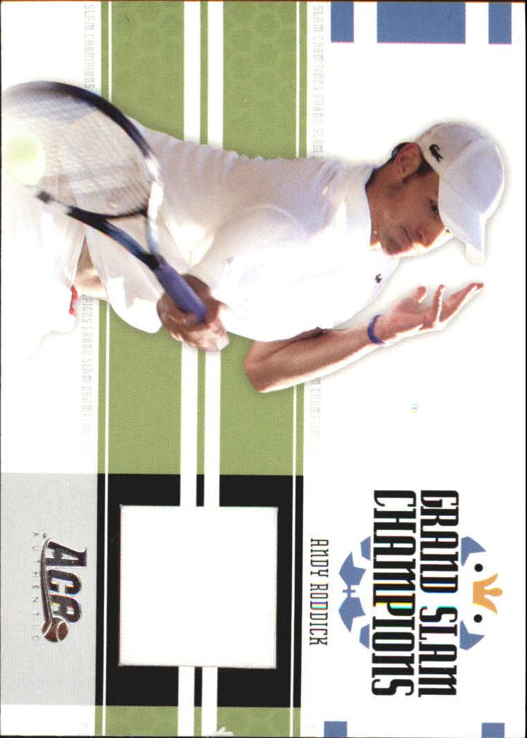 2005 Ace Authentic Signature Series Grand Slam Champions #GS2 Andy Roddick