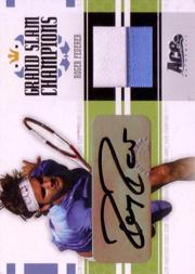 2005 Ace Authentic Signature Series Grand Slam Champions Dual Autograph-Jersey #GS11 Roger Federer/Maria Sharapova