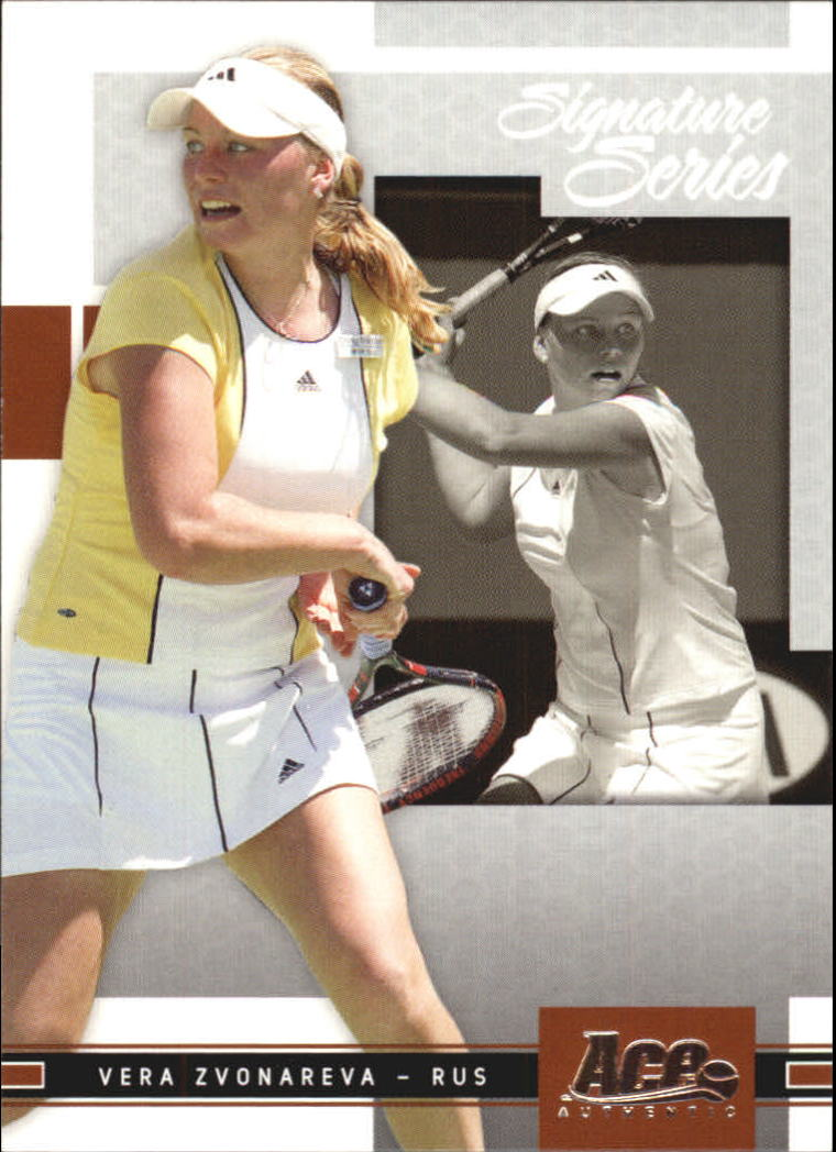 2005 Ace Authentic Signature Series #14 Vera Zvonareva RC