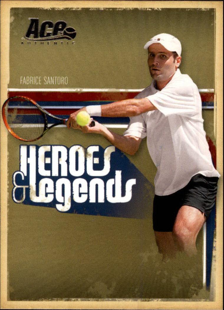 2006 Ace Authentic Heroes & Legends #81 Fabrice Santoro