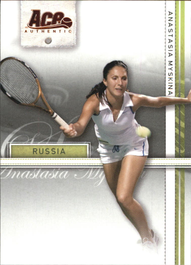 2007 Ace Authentic Straight Sets #4 Anastasia Myskina
